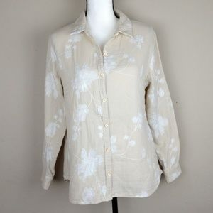 Soft Surroundings button down pergola blouse